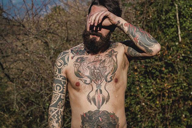 man tattoos body