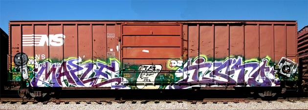 maple isto graffiti boxcar