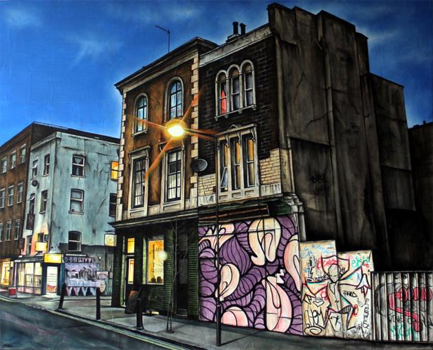 marc gooderham street art paintings of london