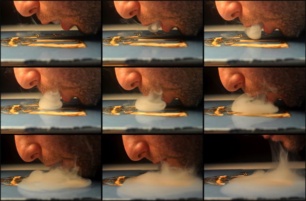marijuana smoke art process