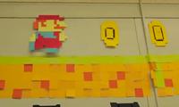 Mario Meets Post-it Notes
