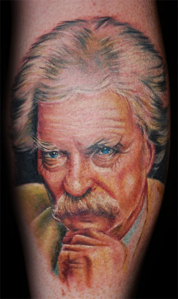 mark twain portrait tattoo