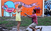 Marriage Graffiti Proposal