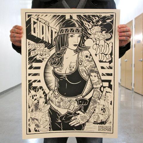 mike giant tattoo print