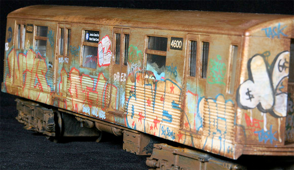 new york city subway graffiti. from New York City.