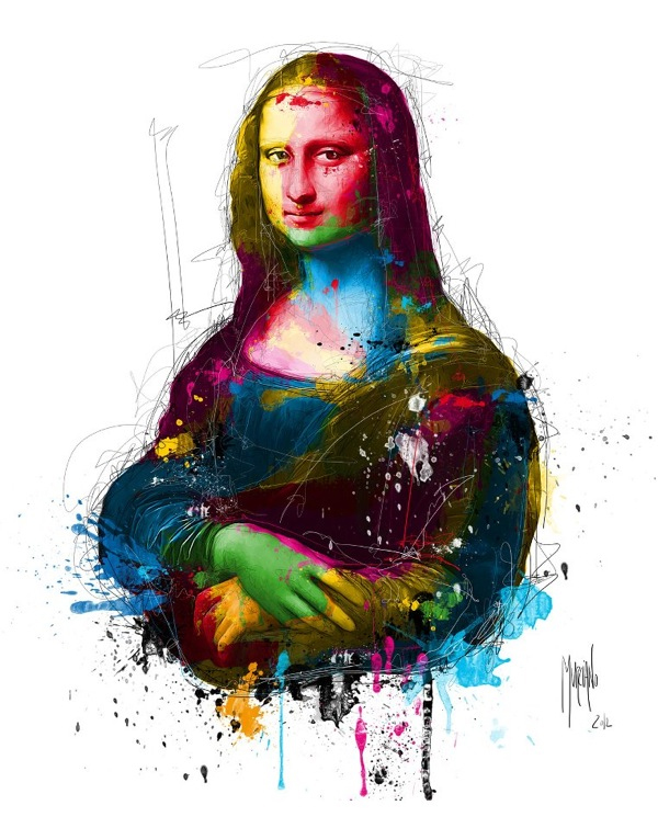 mona lisa illustration