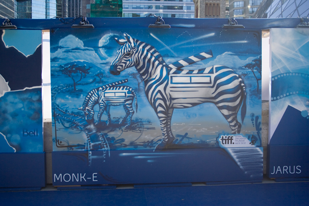 monk-e graffiti painting tiff 2012
