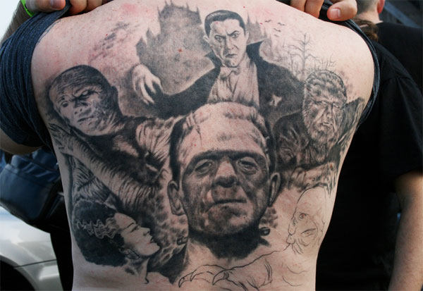 Best Black And White Monster Tattoo Designs