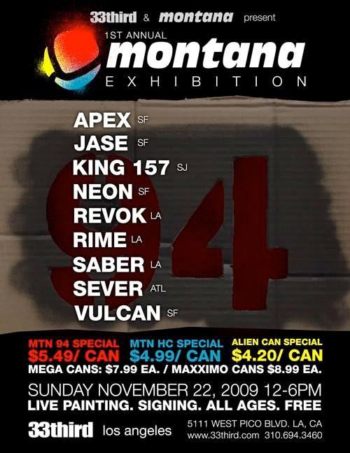 montana graffiti exhibition poster