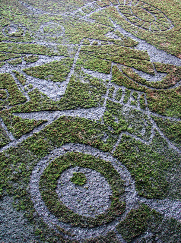 moss mural detail