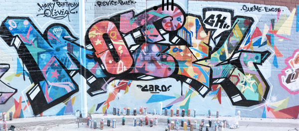 motel graffiti wall