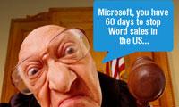 Judge Orders Stop of Microsoft Word Sales