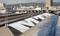 MTA Roller Buffed on the LA River