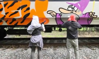 MUL Crew Graffiti on Trains