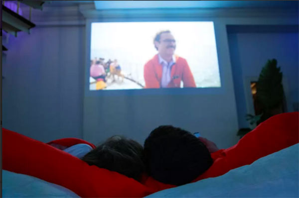netflix and chill projector
