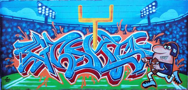 super bowl graffiti wall senses lost. Black Bedroom Furniture Sets. Home Design Ideas