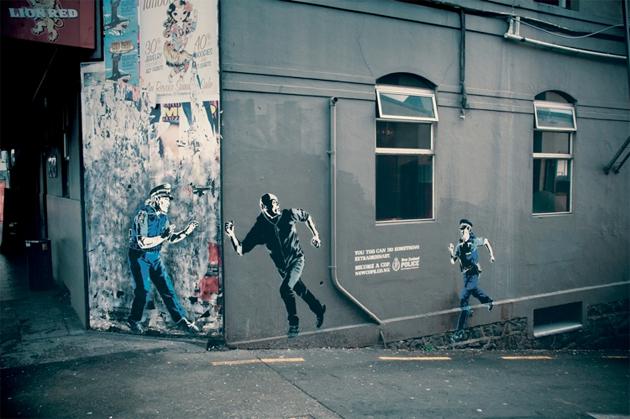 new zealand police graffiti campaign