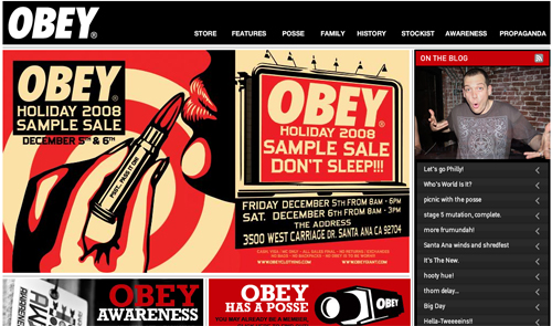 Obey Clothing Site