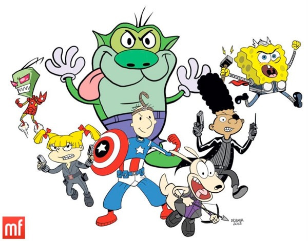 ... of Nickelodeon cartoon characters dressed as the Avengers
