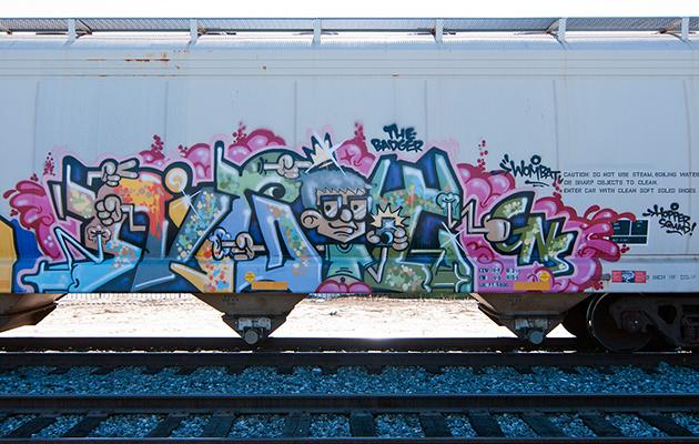 night graffiti hopper