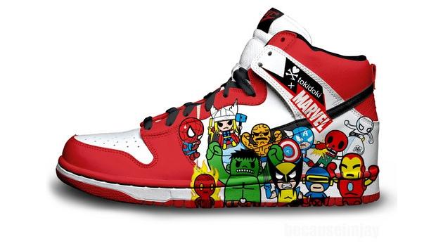nike shoe design marvel characters