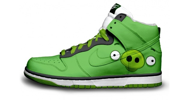 nike shoes design angry birds pig