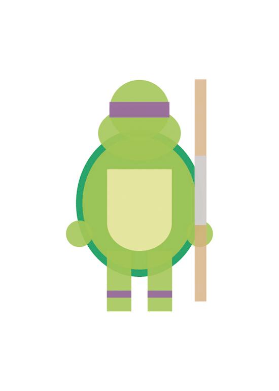 ninja turtle minimalist illustrations