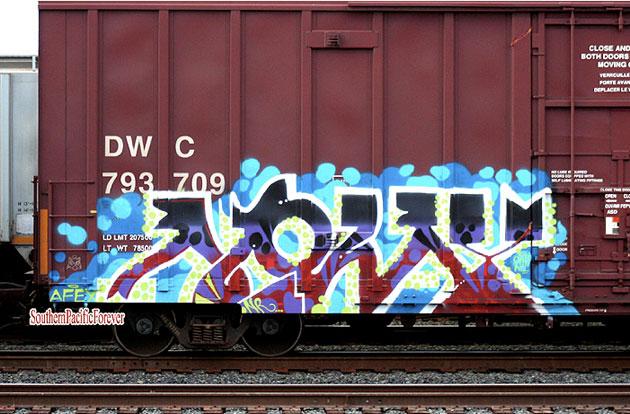 noway graffiti boxcar