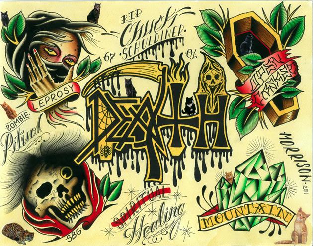 noway tattoo flash death