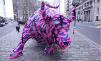 Olek Wall Street Bull in NYC
