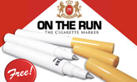 On The Run Cigarette Markers