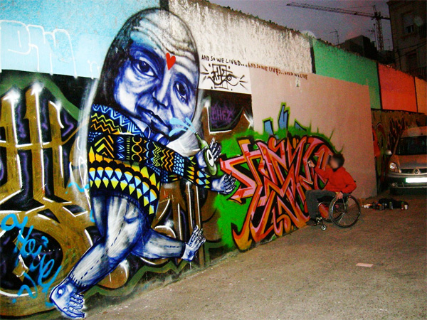 other take5 barcelona graffiti
