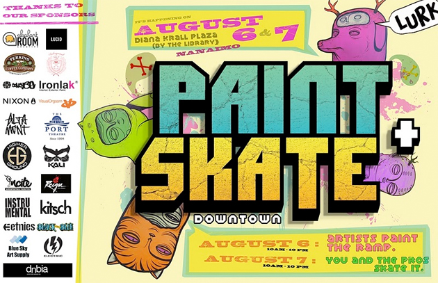 paint and skate flyer