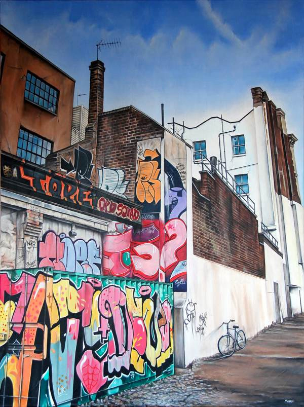 painting of graffiti by marc gooderham
