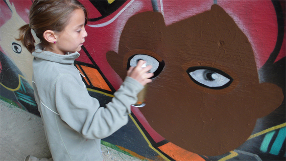 Solveig Graffiti 11 year old