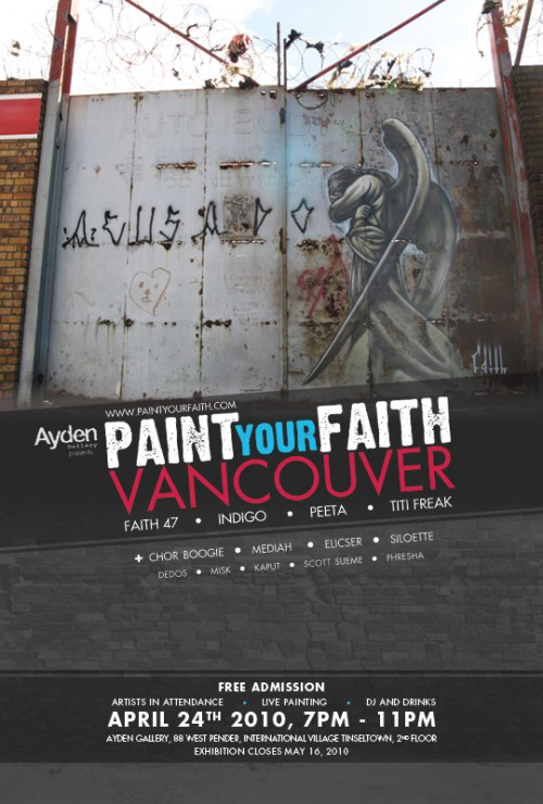 paint your faith vancouver poster