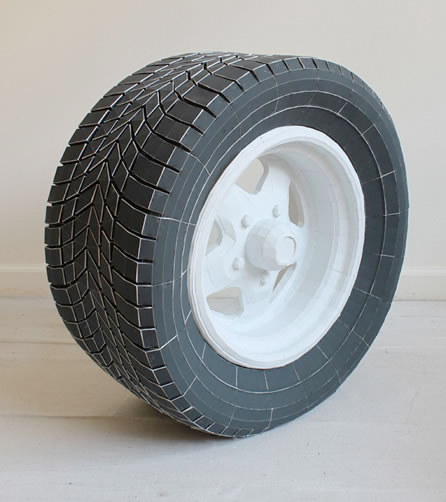 paper ford car tire