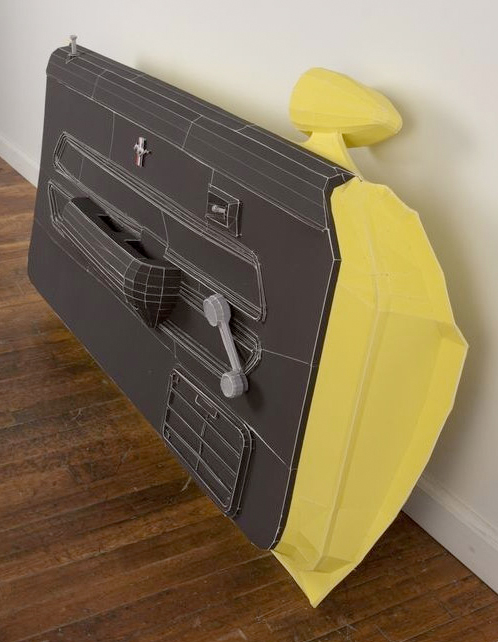 paper ford mustang door
