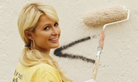 Paris Hilton Buffing Graffiti