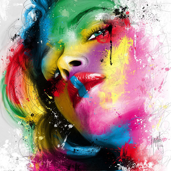 patrice murciano acrylic painting girl