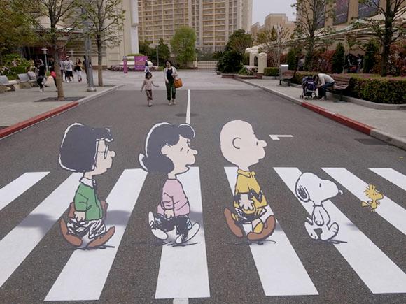 peanuts beatles abbey road