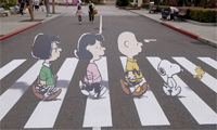 The Peanuts Abby Road Street Art