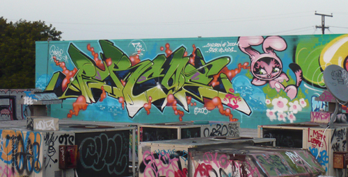 Persue Rooftop Graffiti