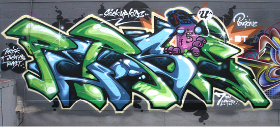 Persue Seventh Letter Graffiti