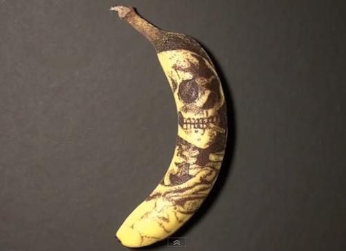 phil hansen tattoo banana skull