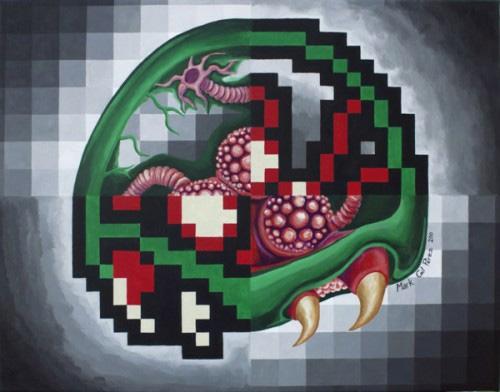 pixel art painting