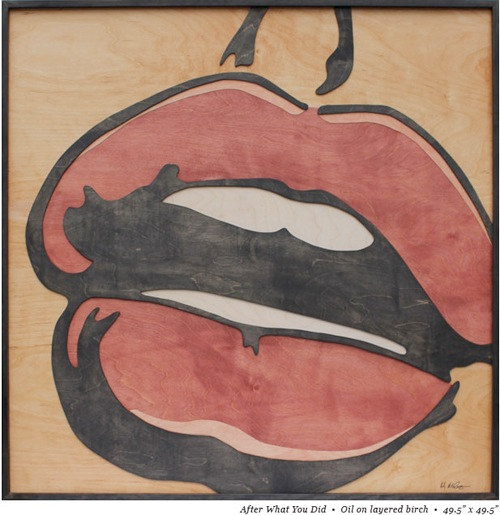 pop art made of wood