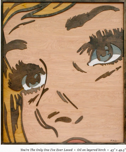 Mitch McGee Wood Pop Art