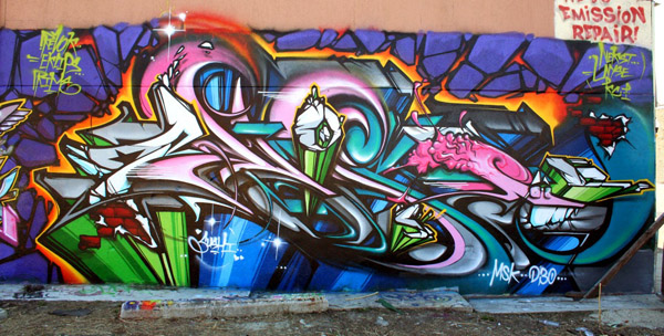Pose msk graffiti interview senses lost for Caracteristicas de un mural