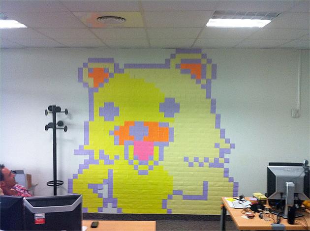post it wars bear
